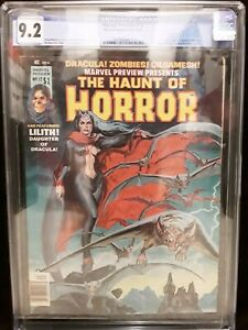 MARVEL PREVIEW #12 - CGC 9.2 - OW/WP NM- HAUNT OF HORROR - LILITH STORY 1977