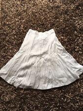 Hobbs Flax Linen Flippy White Skirt Size 10