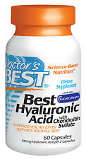 Best Hyaluronic Acid by Doctor's Best - Healthy Skin & Joint Function- 60 Caps