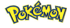 Pokemon - Text - Game - Video - Embroidered Iron On Applique Patch