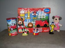 jouet MICKEY à La Ferme + Tirelire  + Figurines +  Peluche Poûet  Minnie