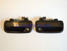 95-04 TOYOTA TACOMA SMOOTH OUTSIDE FRONT DOOR HANDLES SET RH R & L LH BLACK NEW
