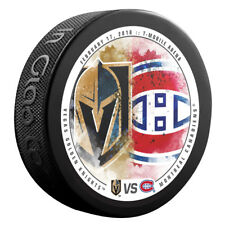 VEGAS GOLDEN KNIGHTS vs MONTREAL CANADIENS NHL Matchup Hockey Puck 02/17/18