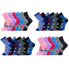 6 Paar Mädchen Jungen Thermo Socken mit ABS Warme Kinder Strümpfe 93% Baumwolle