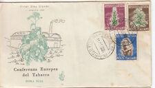 FDC 1950 CONFERENZA EUROPEA DEL TABACCO SU BUSTA US. VENEZIA 2