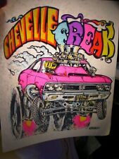 Chevelle Freak Chevy Muscle 1970's Vintage Americana Iron On Transfer -Nice, B-9