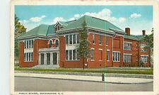 North Carolina, NC, Rockingham, Public School 1920 Postcard