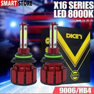 4-Sides 9006 HB4 LED Headlight Kit Bulb Ice Blue 8000K Low Beam Foglight Lamp US