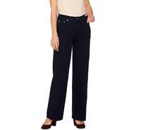 Isaac Mizrahi Live!24/7 Denim Wide Leg 5-Pocket Jeans Color Dark Indigo Size P 8