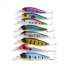 New 8pcs/Lot Plastic Bait Minnow Fishing Lures Bass CrankBait Tackle 10cm/11.8g