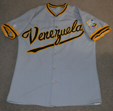 Vtg Venezuela Game Worn Used Baseball Jersey Retro 1970s 80s Unisport WBC