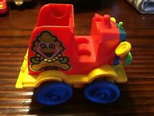 Vintage Fisher Price #657 Little People Crazy Clown Fire Brigade Jalopy Car 1983