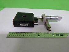 OPTICAL POSITIONING DEL-TRON + STARRETT MICROMETER for optics AS IS  BIN#Y7-H-06