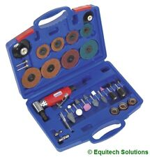 Sealey Tools GSA674K Air Right Angle Die Grinder Sander Sanding Kit 42 Piece