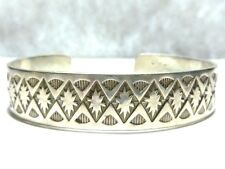 Sterling Silver Cuff Bracelet Delbert Vandever Navajo Native American
