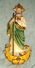 12 1/2 inch ST SAINT JUDE Holy Water Font Patron of Impossible