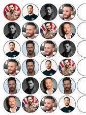 "24 x Tom Hardy 1.5"" PRE-CUT Rice Paper Cupcake / Cake Toppers"