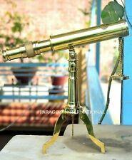 Telescope Table Top Office Table Nautical Brass Decorative Brass Tripod Antique