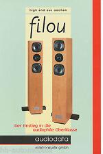 Prospekt Audiodata Filou Lautsprecherboxen brochure HiFi Loudspeakers 2002 D
