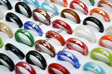 FREE wholesale Bulk 50pcs glass rings fashion jewelry 17-19mm