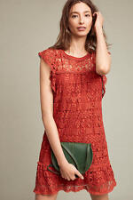 NWT Anthropologie Brindisi Lace Tunic Dress Dark Orange Size PS Or S