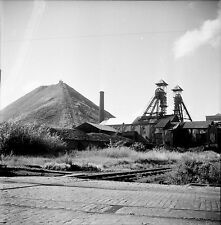 MONS c. 1950 - Puits de Mine Chevalements Belgique - Négatif 6 x 6 - Bel 65