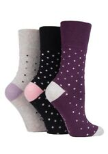 3 pairs Ladies SockShop Cotton Gentle Grip 4-8 uk Socks - NEW variations