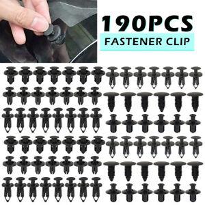 190pc Car Plastic Trim Clips Fastener Set Push Retainer Door Panel Fender Rivets