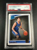 LUKA DONCIC 2018 PANINI DONRUSS #177 RATED ROOKIE RC PSA 10 MAVERICKS (7998)