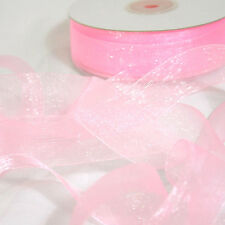 NEW LIGHT PINK Premium Organza Ribbon 25mm x 50m, Baby Pink