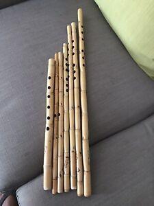 Egyptian Ney / Nay Flute Wood wind FULL Set 7 pcs