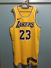 Nike Nba Basketball LeBron James Lakers Authentic Jersey 44