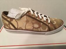 NIB Coach Q998 A1447 Dee 24CM Optic C Khaki Sneaker Shoe 9