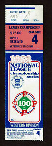 1983 NLCS Game 4 Ticket Stub Philadelphia Phillies Vs LA Dodgers S1