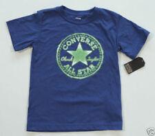 Abbigliamento blu a manica corta misto cotone per bambini dai 2 ai 16 anni