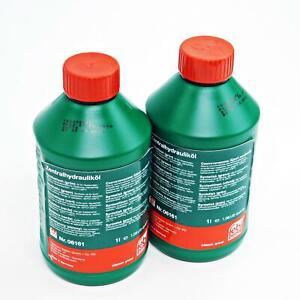 2x Febi BILSTEIN Hydraulic Oil Central Servo Level Regulator Green 1 L