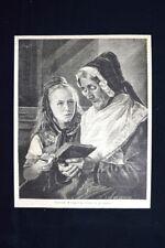 Nonna e nipote, disegno di Woltze Incisione del 1875