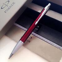Perfect Parker IM Ballpoint Pen Beautiful Red Silver Clip 0.5mm Fine Nib Pen