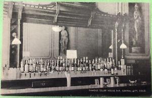 Teller House Bar Central City Colo Postcard 1948