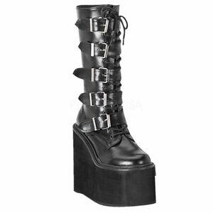 SWING-220  Black Vegan Leather