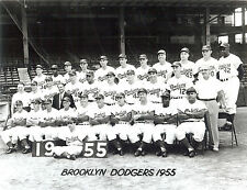 1955 World Champions Brooklyn Dodgers  8x10  outstanding B/W photo
