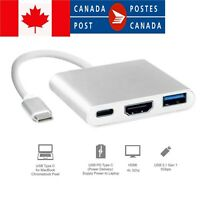 USB 3.1 Type-C Hub to HDMI Charging Port 4K Multiport Adapter for Macbook Suppot
