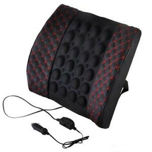 Car Seat Back Lumbar Massage Cushion Waist Support Brace Rest Pillow Electrical
