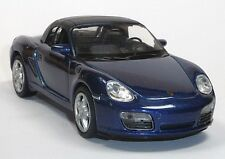 Modellauto Porsche Boxster S Cabrio blau / geschlossen ca. 11,5 cm Neuware WELLY