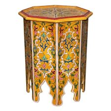 Moroccan Tea Table Oriental Wood Arabic Table Khabori H51xD42cm