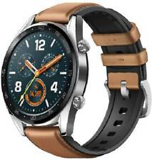 Huawei Watch GT FTN-B19 Stainless Steel with Saddle Brown Hybrid Strap - Steel