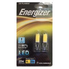 4 ENERGIZER  G9 LED FILAMENT 2W=20W DAYLIGHT CAPSULE LAMPS LIGHT BULBS (2 Twins)