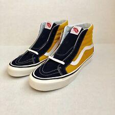 Vans Sk8-hi 38 Dx Anaheim Factor Navy Yellow Mens Skate Shoes Size 9