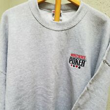 WSOP Auth. NWT Sweatshirt Long Sl 3XL Gray World Series of Poker Las Vegas B442