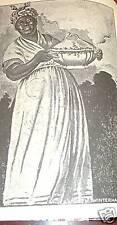 BLACK MAMMY NEW ORLEANS BLACK AMERICANA SLAVERY MADAM BEGUE CREOLE COOKBOOK